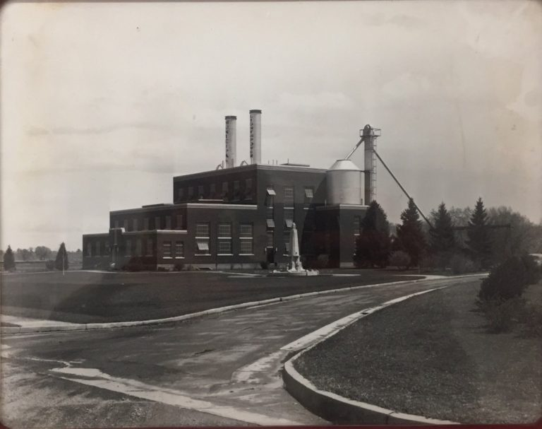 A historic photo of the original Fort Collins Municipal Power Plant.